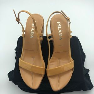 Prada Nude/Tan Patent Leather sz 38